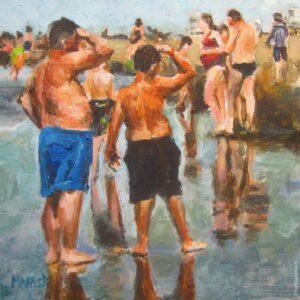 Schilderijen Katwijk aan Zee 15 x 15 cm